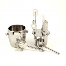 Stainless Steel Seven Piece Ice Bucket Set