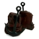 Brass Anchor, Patina Finished Bookends,