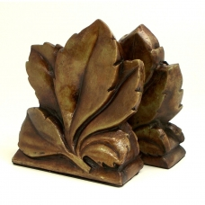 """""""Fall Leaf"""" Bookends,"""