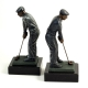 Golf Bookend on Marble Base,