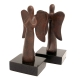 Angel Bookends, Bronzed on Marble Base,