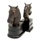 Horse, Bronzed Brass on Wood Bookends,