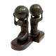 Atlas w/ Globe, Bronzed Brass on Wood Bookends,