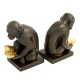 Monkey Bookends, Bronzed,
