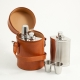 6 Piece Bar Set; 3 Flasks