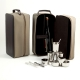 8 Piece Bar Set w/ 4 Collapsible cups, Ice Tong, Bar Tool and Stirrer in Ultra Suede Case