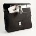 Briefcase Black Leather & Fabric,
