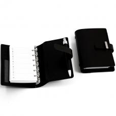 Agenda Book w/ Pen. Black Leather,
