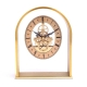 """Georgetown"" Clock, Skelton Movement, Brushed Gold Plated,"