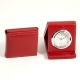 Alarm Clock, Red Leather,