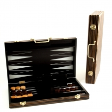Backgammon Set with Birch Wood Exterior and Black and White Interior