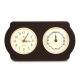 Brass Clock, Tide Clock on Ash Wood,