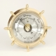 Brass Ship's Wheel Barometer,
