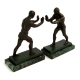 Atlas on Marble Bookends,