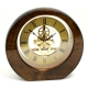 """Garni"" Clock, Piano Finish Walnut Wood w/ Skelton Movement,"
