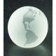 """3"""" Crystal Globe Paperweight"""