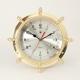 Brass Ship's Wheel Clock,
