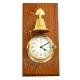 Brass Striking Clock w/Bell on Oak,