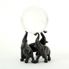 Elephant Ball Holder, Solid Brass, Patina Finished.