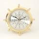 Brass Ship's Wheel Tide/Time Clock,