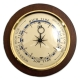 Brass Tide Clock on Cherry Wood,