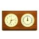 Brass Time, Tide Clocks on Oak,
